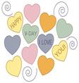 Happy V-Day vector image