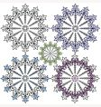 vintage decorative snowflakes for design vector image