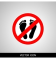 Not Walk icon great for any use vector image