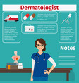 dermatologist and medical equipment icons vector image