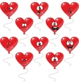 Emotion hearts balloon set vector image