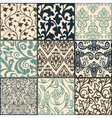 Floral pattern swatches vector image