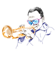 man playing a musical instrument vector image