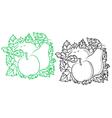 Ripe fruits in retro style vector image