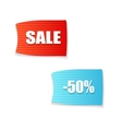 Sale now on and season sale tags vector image