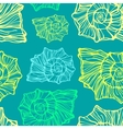 Seamless pattern with decorative seashells vector image