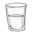 glass with water vector image vector image
