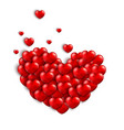 valentines background with a heart concept vector image