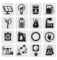 Eco icons for clean energy vector image