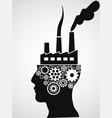 factory head vector image vector image
