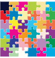 puzzle background vector image