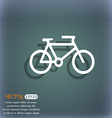 bike icon symbol on the blue-green abstract vector image