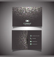 Business card with halftone dots design vector image