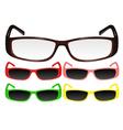 eyeglasses 2 vector image