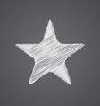 star sketch logo doodle icon vector image