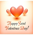 Stylish Happy Valentine Day postcard vector image