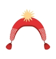 winter hat isolated cion vector image