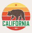 california t shirt with grizzly vector image