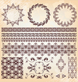 set of beautiful vintage elements of design vector image vector image