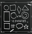 chalkboard sketch symbols sign figure icons vector image