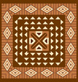 african geometric background vector image vector image