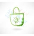eco bag grunge icon vector image vector image