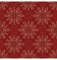 Seamless Mandala Pattern over red vector image