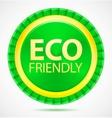 eco friendly green label vector image