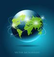 Modern globe network blue background vector image