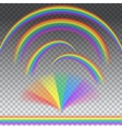 Rainbows in different shape vector image