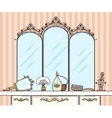 Retro dressing table vector image