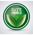 Save world design vector image