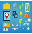 Tourism and Travel Icons Set vector image
