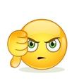 Dislike sign smiley emoticon vector image vector image