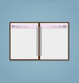 open diary on spring vector image vector image