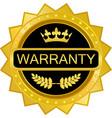 warranty gold badge vector image