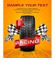 Rubber tire  racing symbols vector image vector image