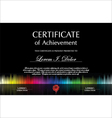 Black colorful certificate template vector image