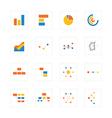 Icon graphAndChart vector image