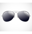 Aviator sunglasses background vector image