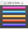 web interface ui elements vector image