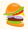 Big Burger vector image vector image