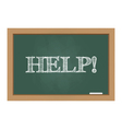 Chalkboard with help text vector image