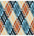 Seamless tartan pattern Diagonal orange blue vector image