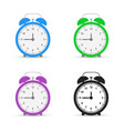 alarm clock set icons flat design style vector image