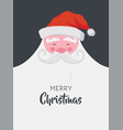 christmas greeting card happy santa with a beard vector image
