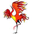 Fire bird vector image