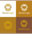 quran logo vector image