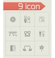 Wedding icon set vector image