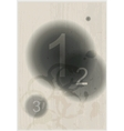 Compositions of number abstract background vector image